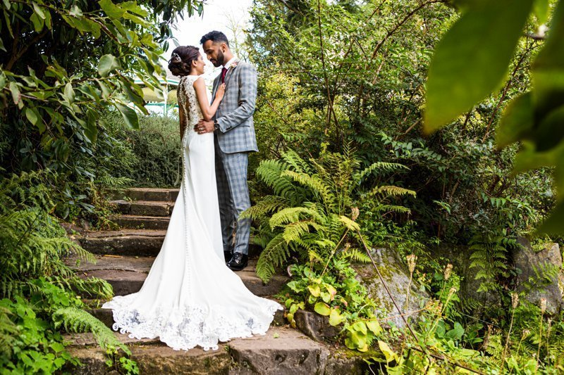 Civil wedding photography at Botanical Gardens